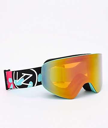 VonZipper Encore Mint Satin & Pink Chrome Snowboard Goggles