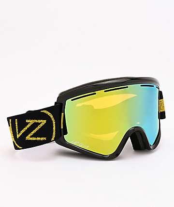 VonZipper Halldor Cleaver Black Gloss & Wildlife Gold Chrome Snowboard Goggles