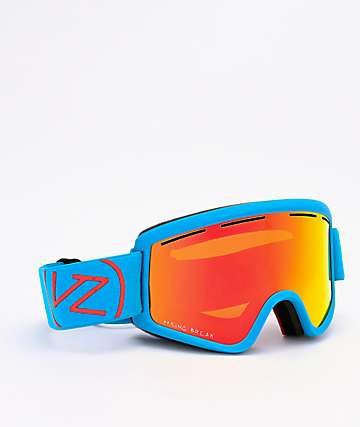 VonZipper x Spring Break Cleaver Cyan Satin & Wildlife Fire Chrome Snowboard Goggles