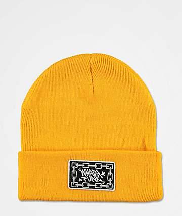 WHADAFUNK Tagged Up Orange Beanie