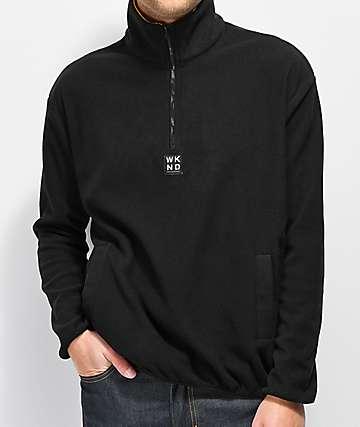 WKND Greenwich Black Fleece Jacket