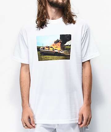 WKND Van On Fire White T-Shirt