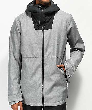 Wear Colour Block Grey Melange 10K Snowboard Jacket