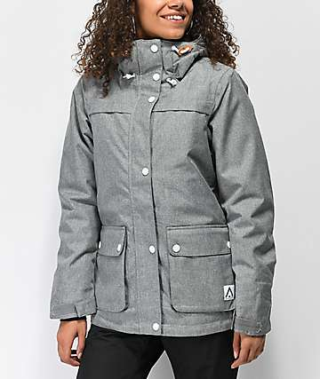 Wear Colour Ida Grey Melange 10K Snowboard Jacket