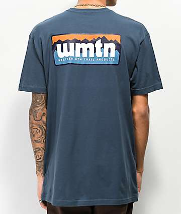 Weather Mountain Ridgeline camiseta azul marino