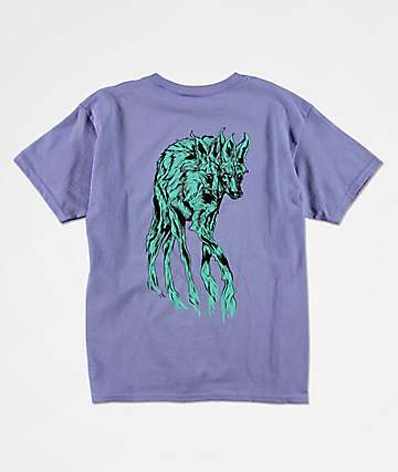 Welcome Boys Maned Wolf Violet T-Shirt