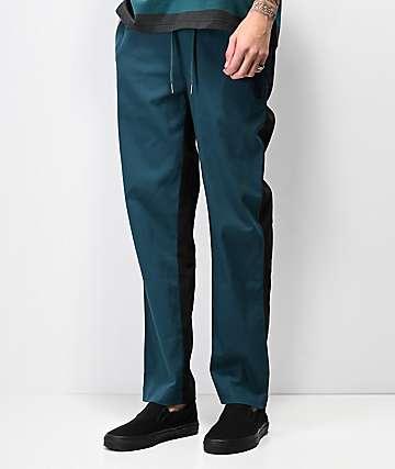 Welcome Dark Wave pantalones de color negro y verde azulado