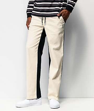 Welcome Dark Wave pantalones negros y blancos con cintura elástica