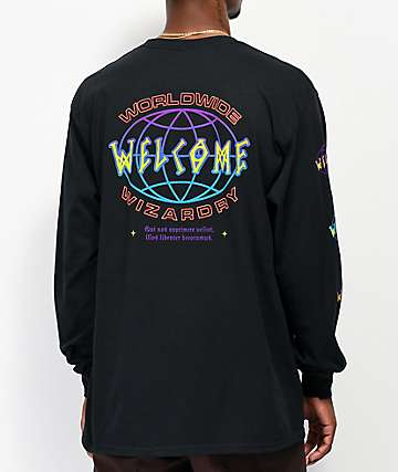 Welcome Global camiseta negra de manga larga