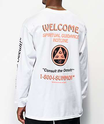 Welcome Hotline White Long Sleeve T-Shirt