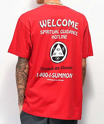 Welcome Hotline camiseta roja