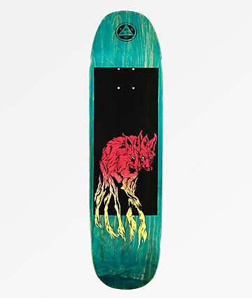 "Welcome Maned Wolf Black & Teal 8.25"" Skateboard Deck"