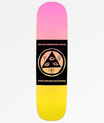 "Welcome Mantra On Yung Nibiru 8.25"" Pink & Yellow Skateboard Deck"