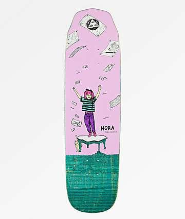 "Welcome Nora Magilda Purple & Teal 8.6"" Skateboard Deck"