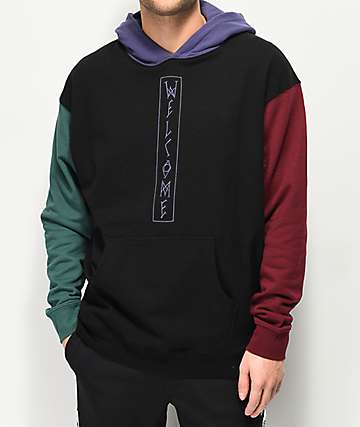 Welcome Quadrant Black Hoodie