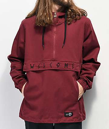 Welcome Scrawl Wine chaqueta anorak