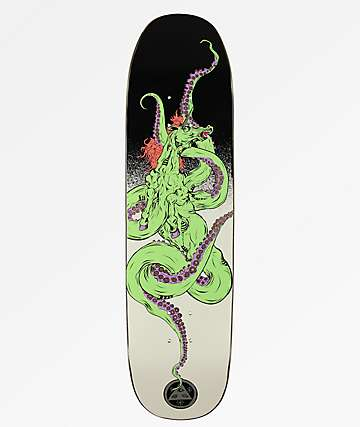 "Welcome Seahorse On White Lightning 8.25"" Skateboard Deck"