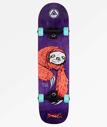 "Welcome Sloth On Bunyip 8.0"" Skateboard Complete"