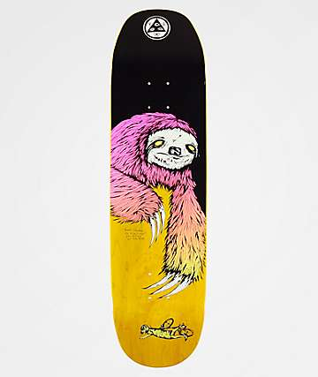 "Welcome Sloth On Moontrimmer 8.5"" Skateboard Deck"