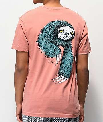 Welcome Sloth camiseta rosa