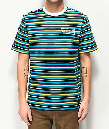 Welcome Surf Stripe Woven T-Shirt