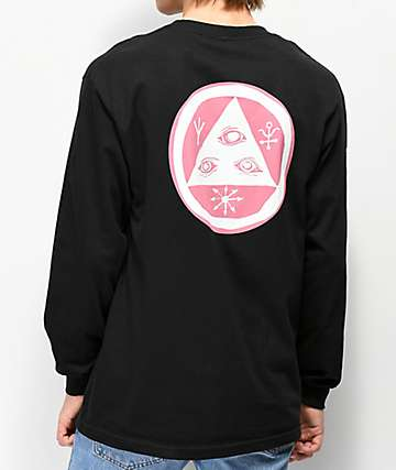 Welcome Tali-Scrawl Black Long Sleeve T-Shirt