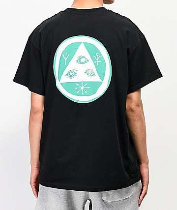 Welcome Talisman Black & Aqua T-Shirt