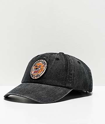Whadafunk Anti-You Black Washed Strapback Hat