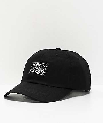 Whadafunk Good Times Forever Black Strapback Hat