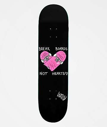 """Willy Break Boards Not Hearts 8.0"""" Skateboard Deck"""