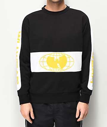 Wu Wear Racer Black Crew Neck Sweatshirt