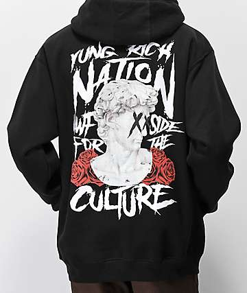 YRN Ancient Culture Black Hoodie