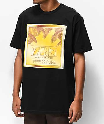 YRN Gold Bar Black T-Shirt