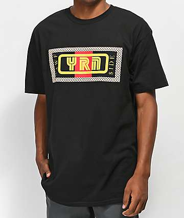 YRN Nawf Side Box Black T-Shirt