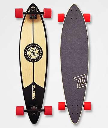 """Z-Flex Black 38"""" Pintail Longboard Complete"""