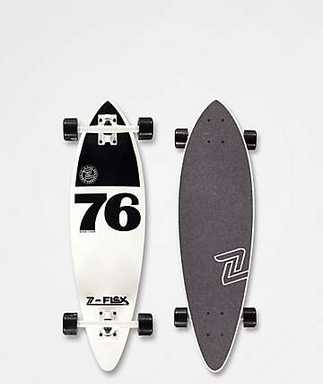 "Z-Flex White & Black Mini 32"" Pintail Cruiser Complete"
