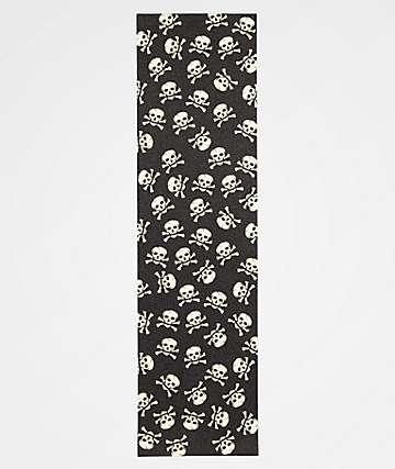 Zee Skulls Black & White Grip Tape