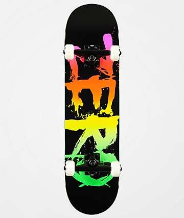 "Zero Blood Text Rainbow & Black 7.5"" Skateboard Complete"