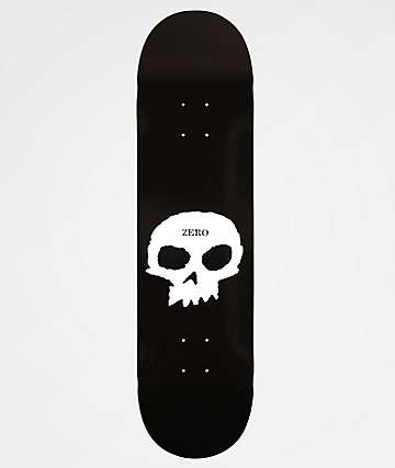 "Zero Single Skull 8.25""Skateboard Deck"