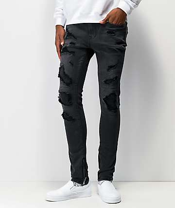 Ziggy Premium Pipes Black Skinny Jeans