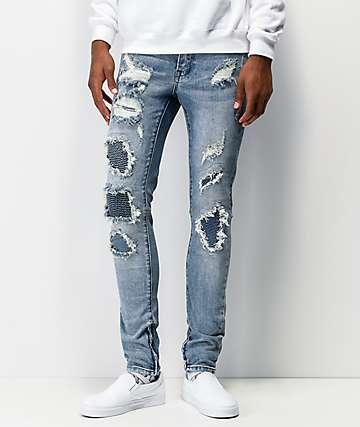 Ziggy Premium Pipes jeans ajustados de mezclilla azul