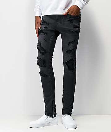 Ziggy Premium Pipes jeans negros ajustados