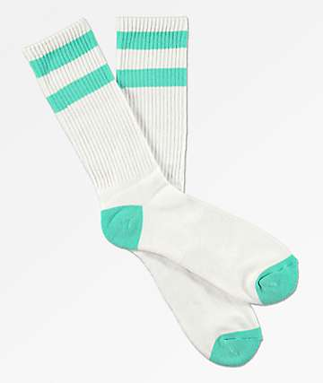 Zine Brawny Biscay calcetines verdes y blancos