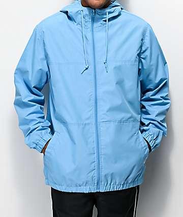 Zine Course Blue Windbreaker Jacket