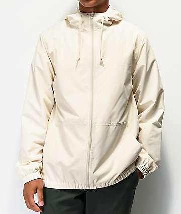 Zine Course Cream Windbreaker Jacket