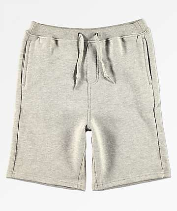 Zine Damon shorts de punto gris para niños