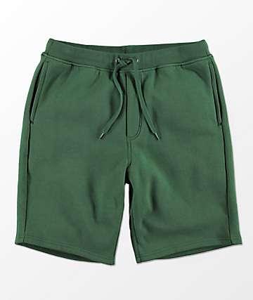 Zine Damon shorts de punto verde oscuro