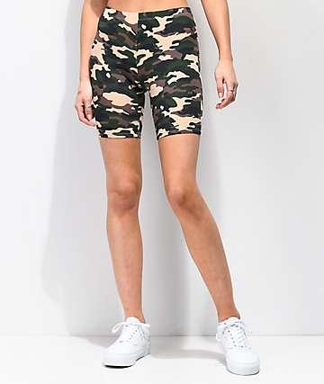 Zine Eve shorts de camuflaje