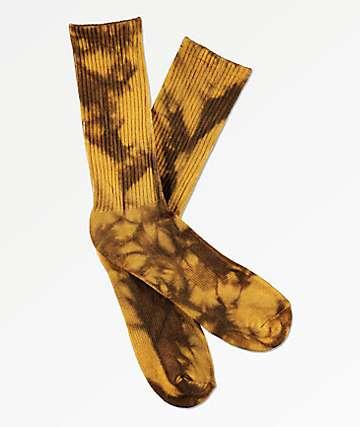 Zine Freesia Gold Tie Dye Crew Socks