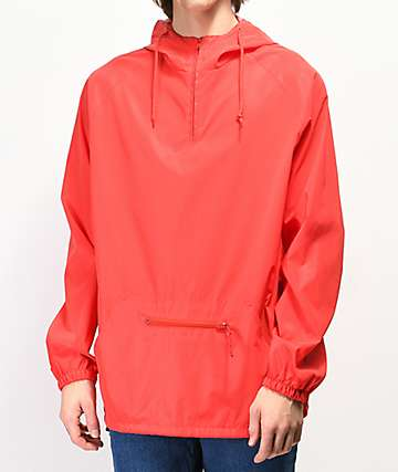Zine Glo Reflective Red Anorak Windbreaker Jacket
